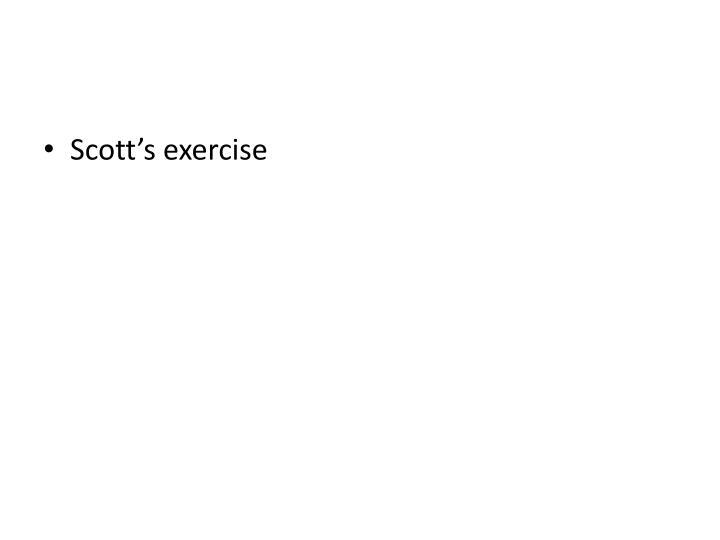 Scott's exercise