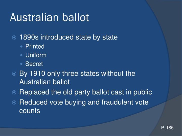 Australian ballot