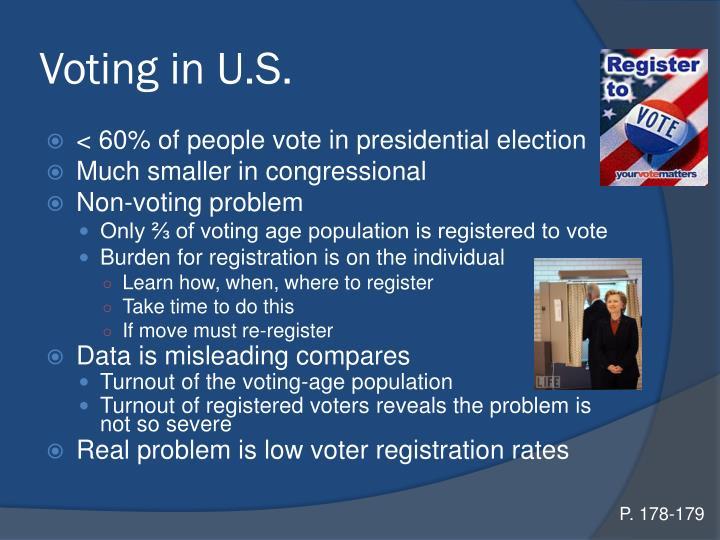Voting in U.S.