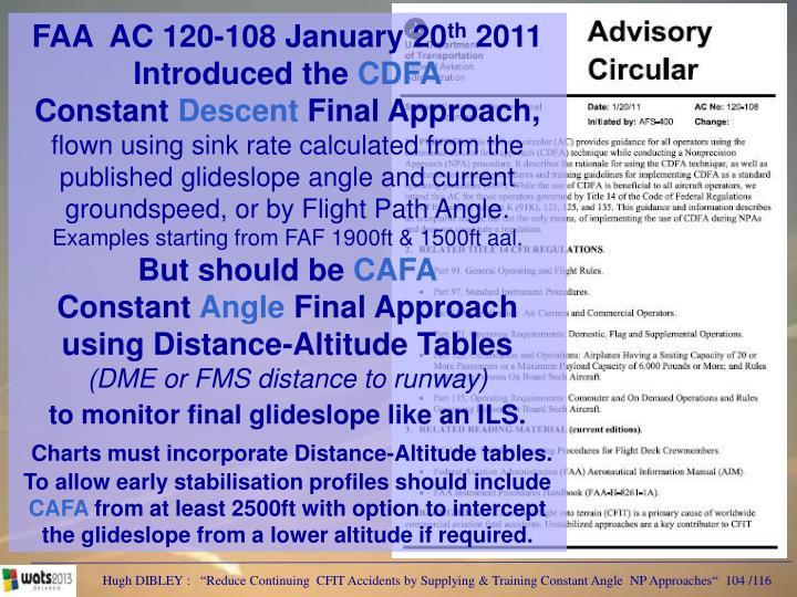 FAA  AC 120-108 January 20