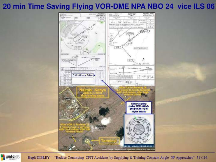 20 min Time Saving Flying VOR-DME NPA NBO 24  vice ILS 06