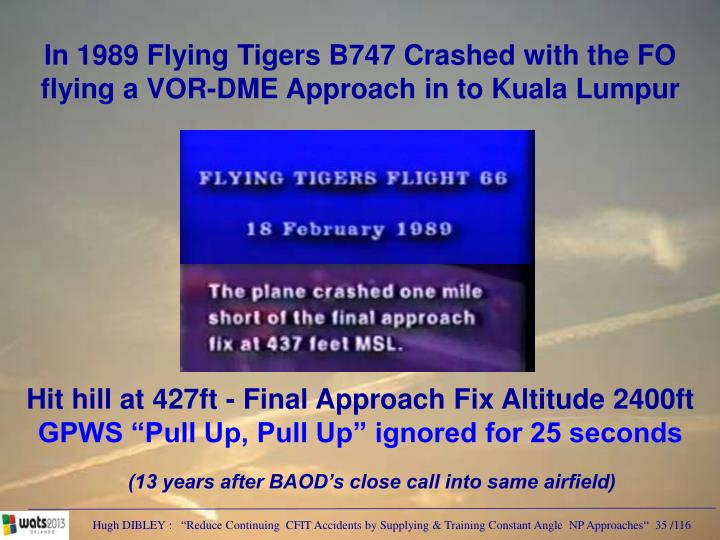 In 1989 Flying Tigers B747 Crashed with the FO