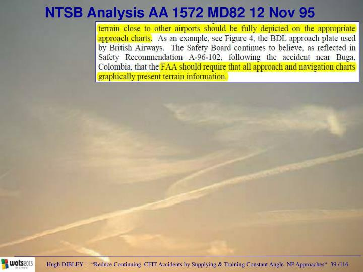 NTSB Analysis AA 1572 MD82 12 Nov 95