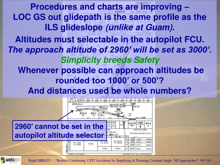 Procedures and charts are improving –