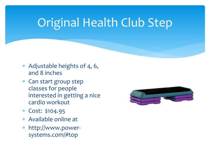 Original Health Club Step