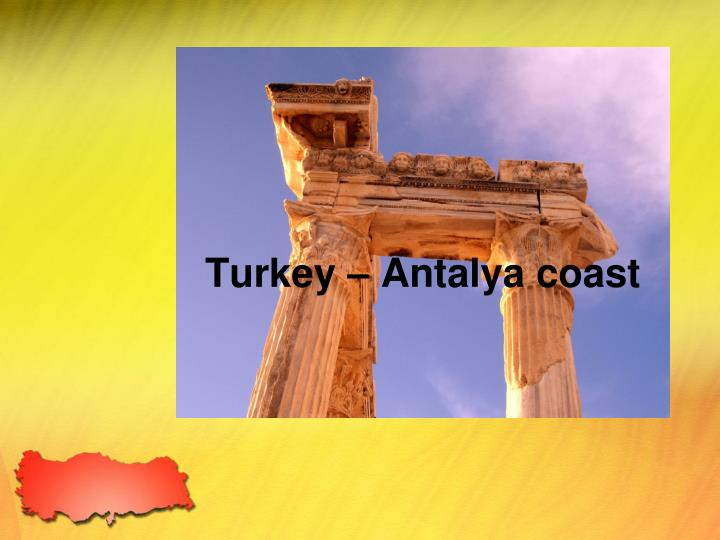 Turkey antalya coast