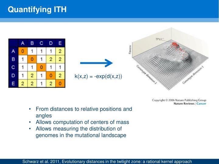 Quantifying ITH