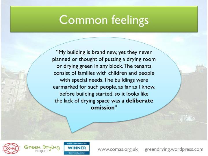 Common feelings