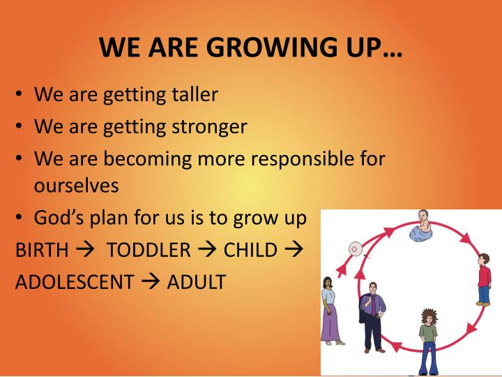 WE ARE GROWING UP…
