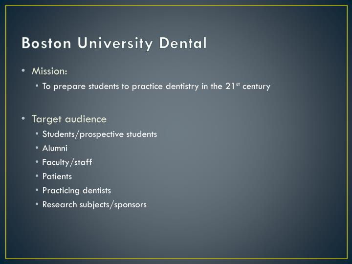 Boston University Dental