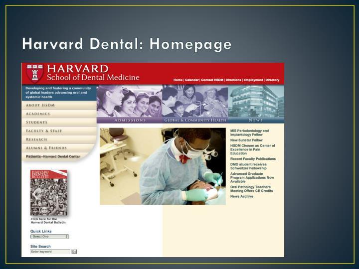 Harvard Dental: Homepage