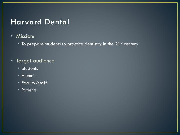 Harvard Dental