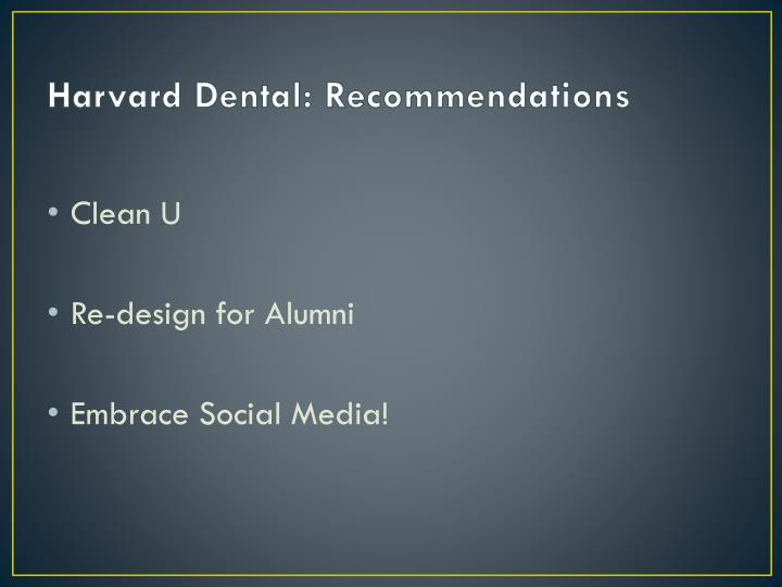 Harvard Dental: Recommendations