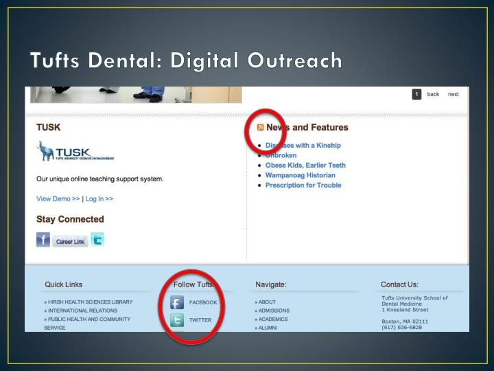 Tufts Dental: Digital Outreach