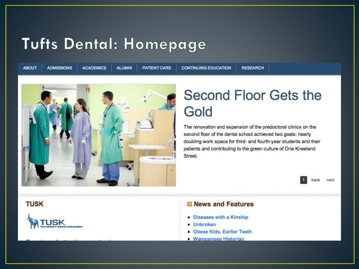 Tufts Dental: Homepage