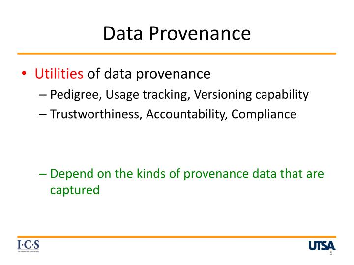 Data Provenance