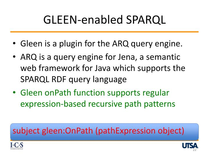 GLEEN-enabled SPARQL