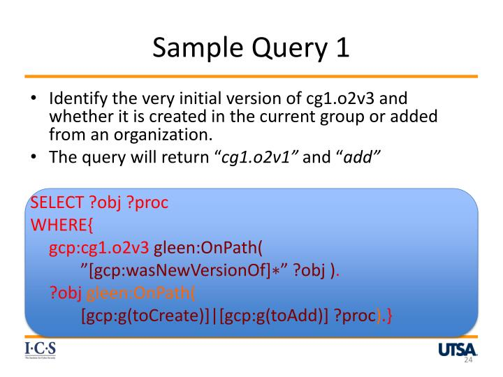 Sample Query 1