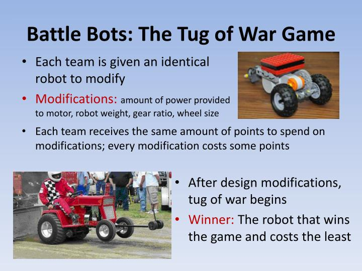 Battle Bots: The Tug of War Game