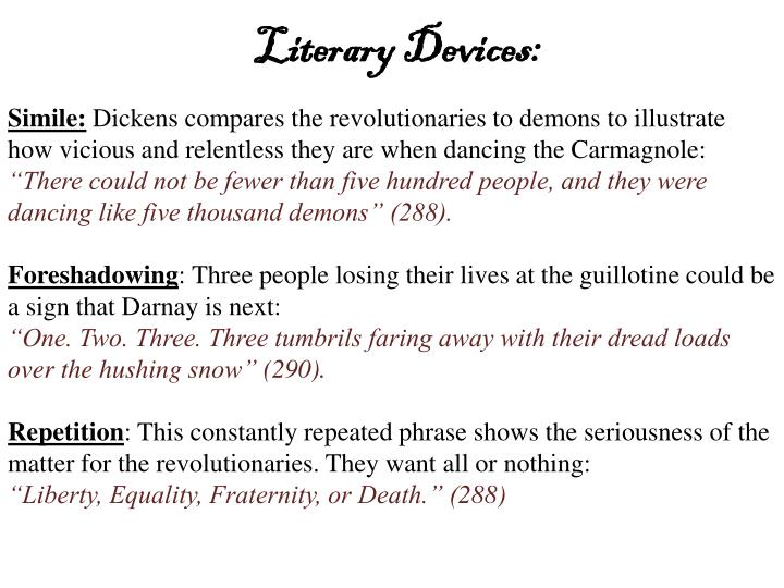 Literary Devices: