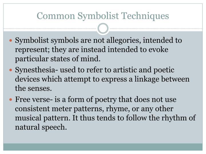 Common Symbolist Techniques