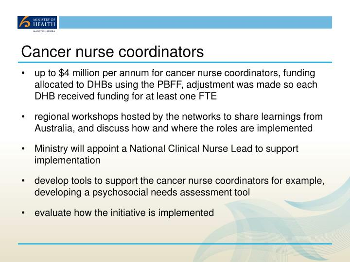 Cancer nurse coordinators