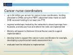 cancer nurse coordinators