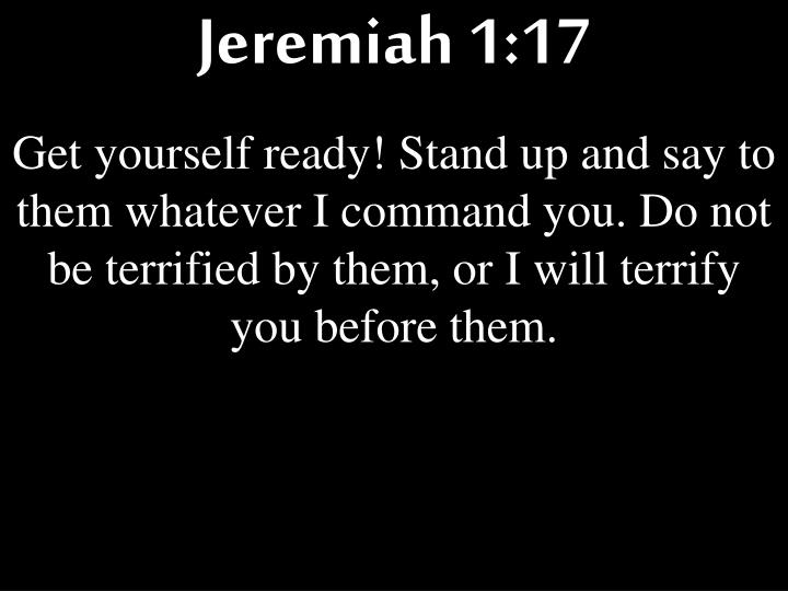 Jeremiah 1:17