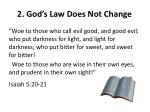 2 god s law does not change1