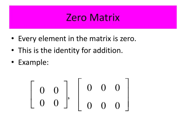 Zero Matrix