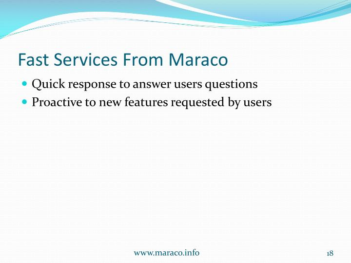 Fast Services From Maraco