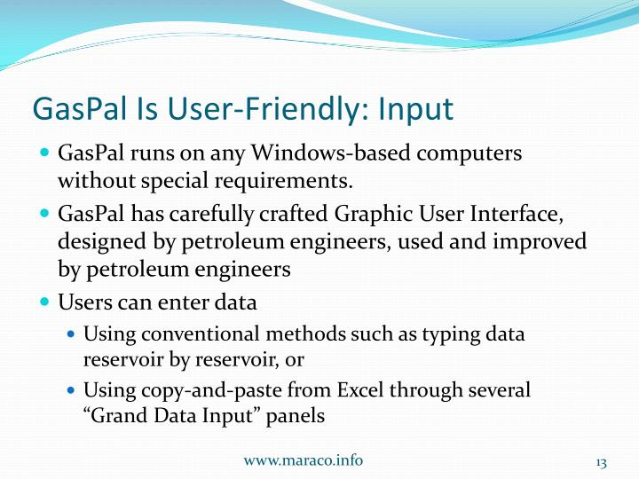 GasPal Is User-Friendly: Input