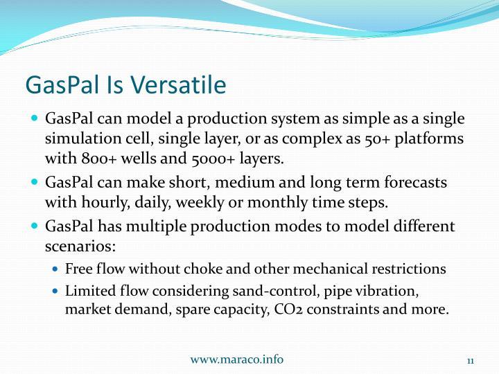 GasPal Is Versatile