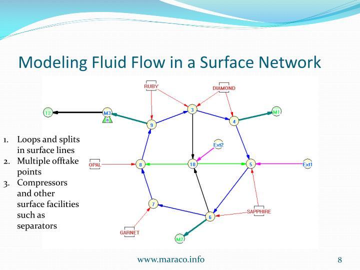 Modeling Fluid Flow in a Surface Network