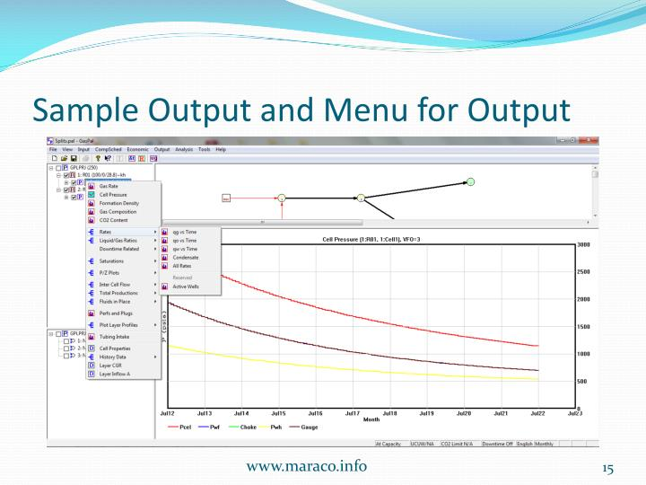 Sample Output and Menu for Output