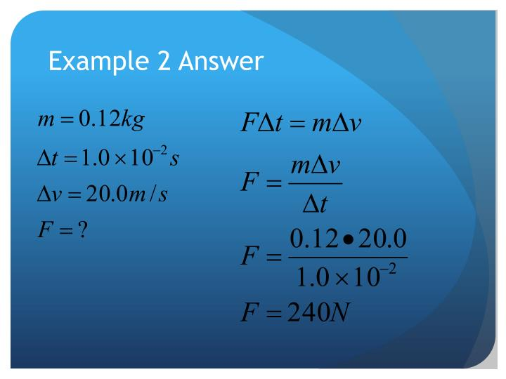 Example 2 Answer