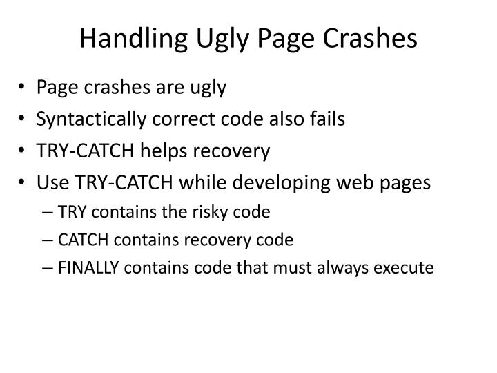 Handling ugly page crashes1