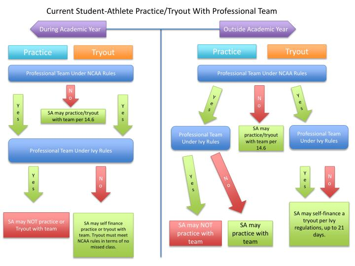 Current Student-Athlete Practice/Tryout With Professional Team