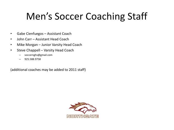Men's Soccer Coaching Staff
