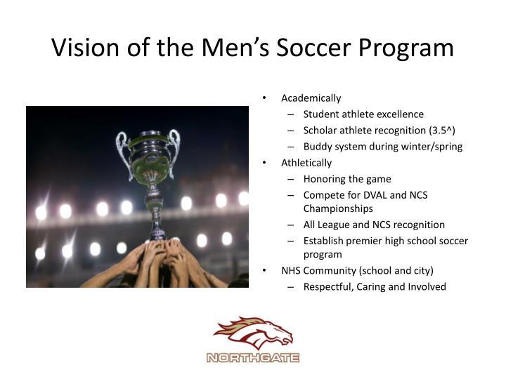Vision of the Men's Soccer Program
