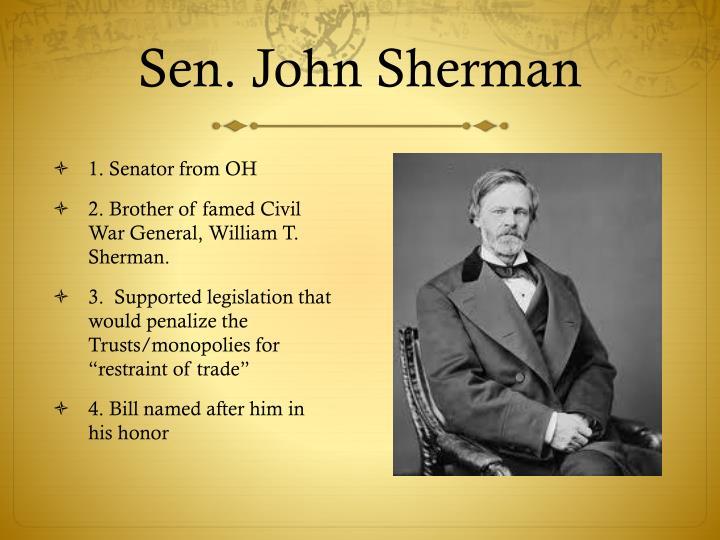 Sen. John Sherman