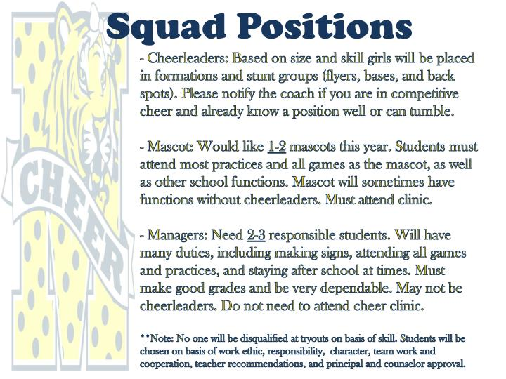 Squad Positions
