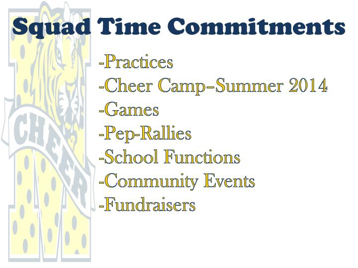 Squad Time Commitments