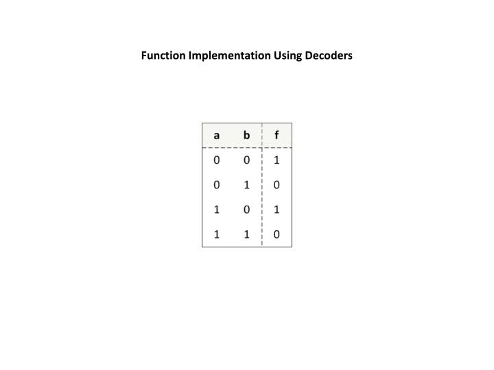Function Implementation Using Decoders