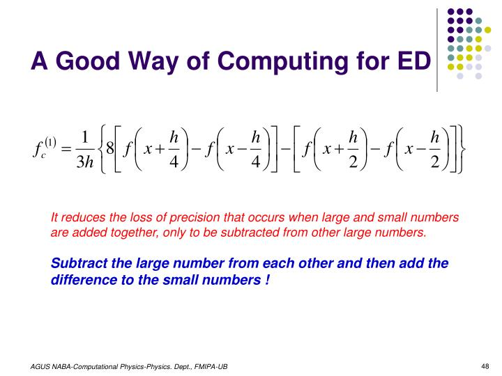 A Good Way of Computing for ED