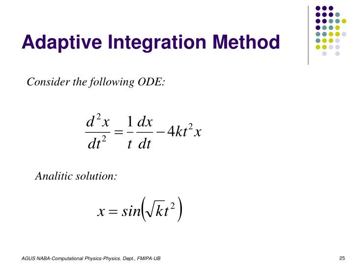 Adaptive Integration Method