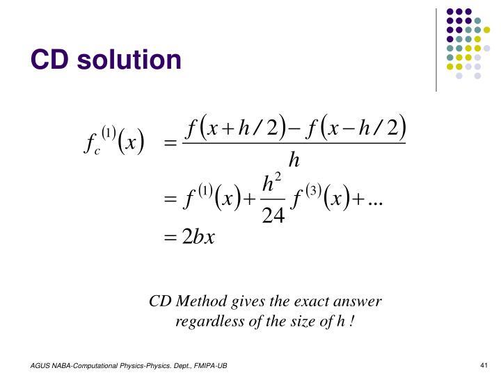 CD solution