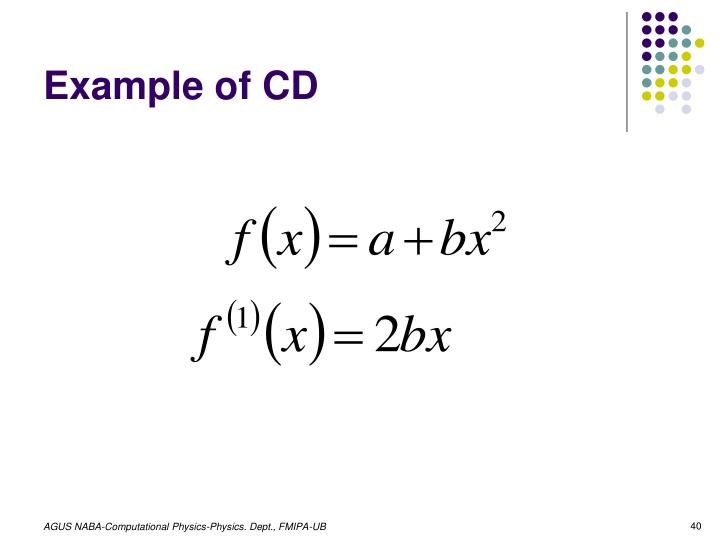Example of CD