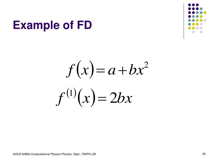 Example of FD