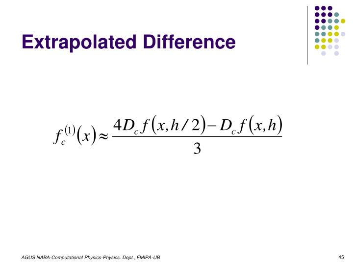 Extrapolated Difference